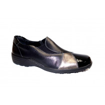 Vycházková obuv, Remonte, šíře H, černá/starostříbrná