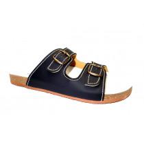 Letní vycházkové pantofle, Sázavan, černá