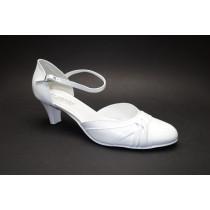 Letní vycházková obuv, De-Plus, šíře G 1/2, bílá