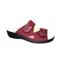 Letní vycházkové pantofle-flexiblová obuv, Dr. Brinkmann, bordo