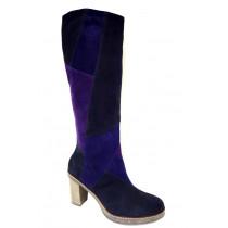 Zimní vycházková obuv-kozačky, Gabor, (lýtko M), tmavě modro-fialová