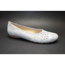 Letní vycházková obuv-baleríny, Gabor, šedo-stříbrná