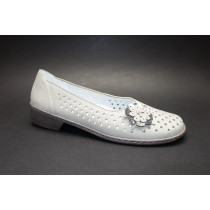 Letní vycházková obuv-flexiblová, Ara, Zaros-Ang, šíře H, světle šedá