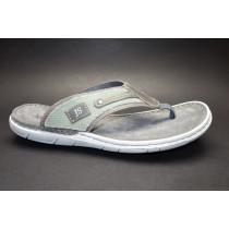 Letní vycházkové pantofle (žabky)-flexiblová obuv, Josef Seibel, Paul 11, šedo-zelená