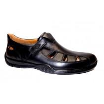 Letní vycházková obuv, Jomos, Forum, šíře G 1/2, černá