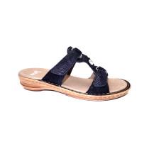 Letní vycházkové pantofle-flexiblové, Ara, Hawaii, šíře G, tmavě modrá