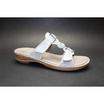 Letní vycházkové pantofle-flexiblové, Ara, Hawaii, šíře G, šedá