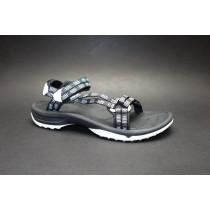 Letní turistická obuv pro středně náročný terén, Teva, W Terra-fi Lite, černo-bílá