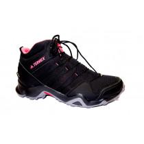Turistická obuv pro středně náročný terén, Adidas, Terrex AX2R Mid GTX W, černo-růžová