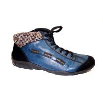 Zimní vycházková obuv-kotníková, Rieker, modro-černá