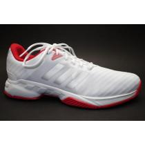 Tenisová obuv, Adidas, Barricade Court 3, bílo-stříbrno-červená