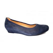 Letní vycházková obuv-lodičky, Gabor, šíře G, tmavě modrá