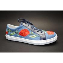 Vycházková obuv-flexiblová, Gabor, modrá+kytka