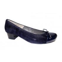 Vycházková obuv-lodičky, Ara, Brügge, šíře K, tmavě modrá