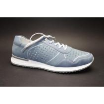Letní vycházková obuv, Remonte, modro-stříbrná