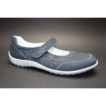 Letní vycházková obuv-flexiblová, Ara, Glasgow, šíře H, tmavě modrá