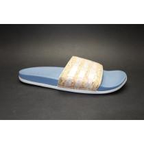 Letní obuv pro volný čas-pantofle, Adidas, Adilette CF+ Cork W, světle hnědá