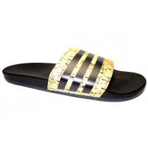 Letní obuv pro volný čas-pantofle, Adidas, Adilette CF+ Cork, hnědo-černá