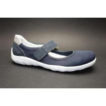 Letní vycházková obuv, Remonte, tmavě modro-stříbrná