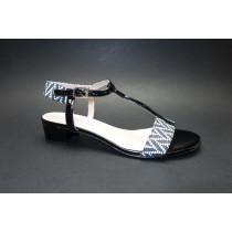 Letní vycházková obuv, Brenda Zaro, černo-bílá