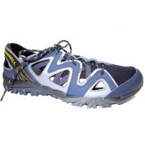Letní turistická obuv pro lehký terén, Merrell, Tetrex Crest Wrap, tmavě modro-šedá