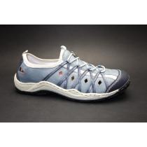 Letní vycházková obuv-flexiblová, Rieker, šedomodrá