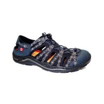 Letní vycházková obuv-flexiblová, Rieker, tmavě modrá