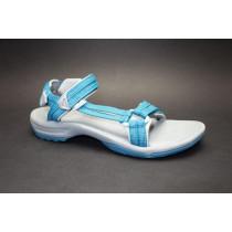 Letní turistická obuv pro středně náročný terén, Teva, W Terra-fi Lite, modro-zelená