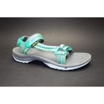 Letní turistická obuv pro středně náročný terén, Teva, W Terra-fi Lite, zelená/multi