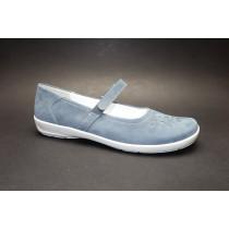Vycházková obuv, Semler, Flora, šíře H, modrá