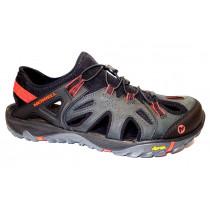 Letní turistická obuv pro středně náročný terén, Merrell, All Out Blaze Sieve, černo-červ.