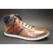 Vycházková obuv-kotníková-flexiblová, Manitu, přírodní/modrá