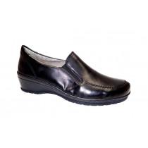 Vycházková obuv-flexiblová, Ara, Cremona, šíře H, černá