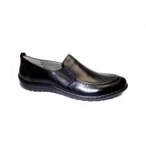 Vycházková obuv-flexiblová, Ara, Glasgow, šíře H, černá