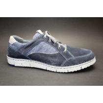 Vycházková obuv-flexiblová, Josef Seibel, Ruben 23, modro-šedá