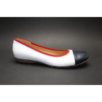 Vycházková obuv-baleríny, Gabor, bílo-tmavě modro-červená