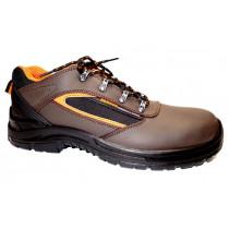 Pracovní obuv, Bennon, Farmis O1 Low, hnědo-černo-oranžová