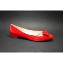 Vycházková obuv-baleríny, Högl, scarlet