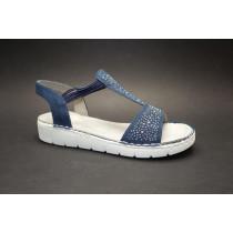 Letní vycházková obuv-flexiblová, Ara, Korsika-Sport, šíře G, tmavě modrá