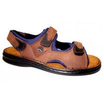Letní vycházková obuv-flexiblová, Josef Seibel, Franklyn, hnědo-modrá