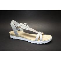 Letní vycházková obuv, Rieker, šedá