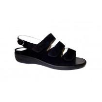 Letní vycházková obuv, Waldläufer, šíře K, černá