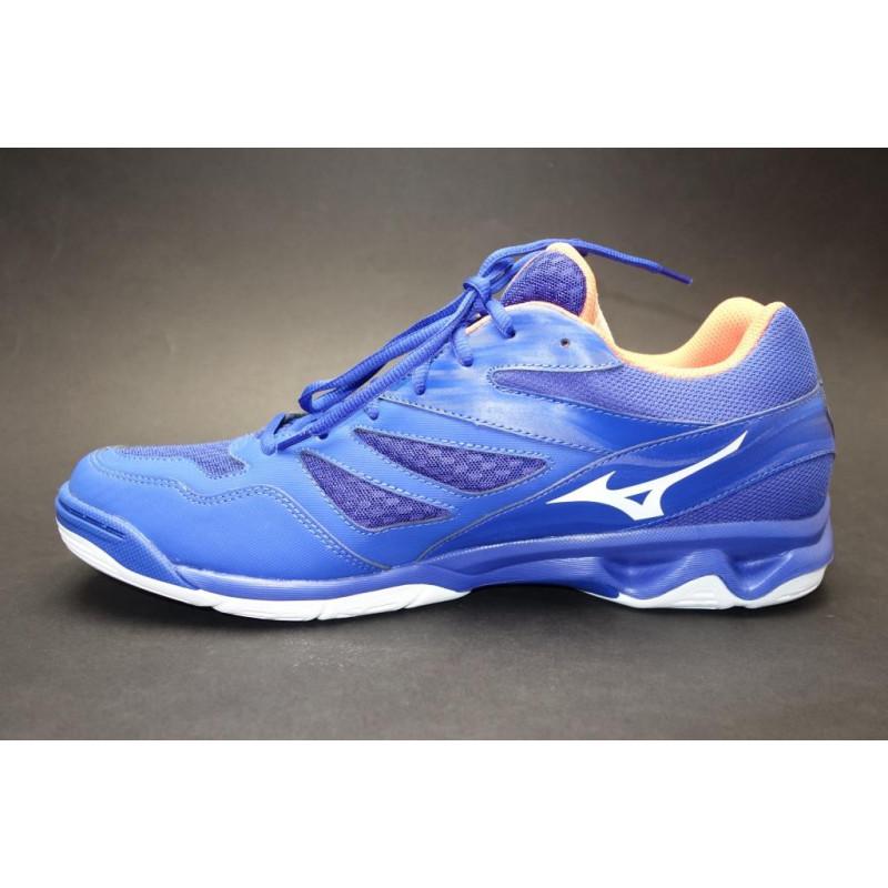 2a61106e5da20 Halová obuv, Mizuno, Thunder Blade, modro-bílo-oranžová