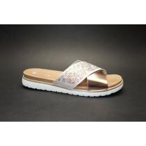 Letní vycházková obuv-pantofle, Remonte, rosa