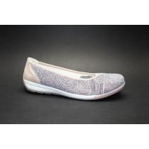 Vycházková obuv-baleríny, Rieker, kombi