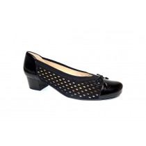 Letní vycházková obuv-lodičky, Ara, Brügge, šíře K, černá
