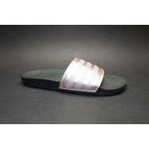 Letní obuv pro volný čas-pantofle, Adidas, Adilette Comfort, měďená/stříbrná