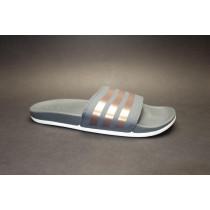 Letní obuv pro volný čas-pantofle, Adidas, Adilette Comfort, černá/zlatá
