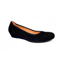 Vycházková obuv-lodičky, Gabor, šíře G, černá