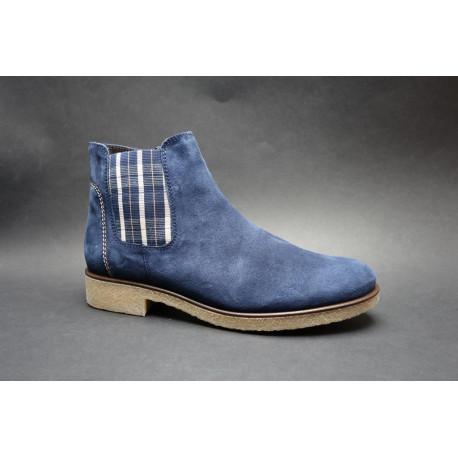 Vycházková obuv-kotníková, Gabor, šíře G, modrá